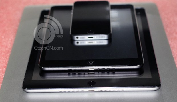 Golly gee whiz we love a good rumor. Or, a bad rumor, if that's all we've got — unconvincing spy pics of the iPad 5 and iPad mini 2 sporting Touch ID