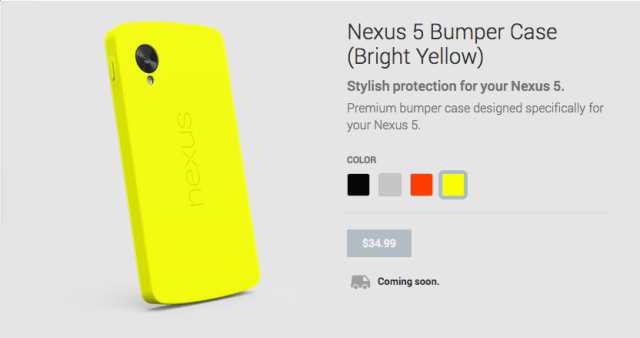 Nexus 5 Yellow Bumper Case