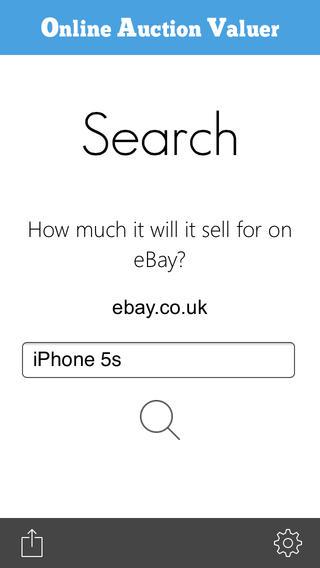 Online auction valuer