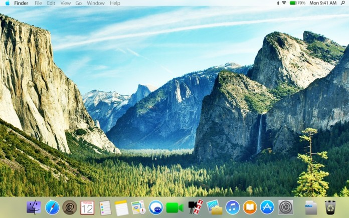 An artist conception of what a post Jony Ive OS X 10.10 might look like.