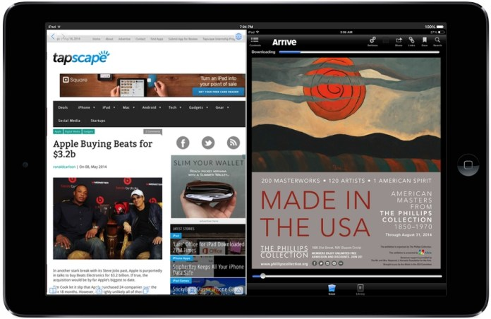 Of course, your iPad can already multitask. Very nicely, thank you. According to rumor, Apple's upcoming iOS 8 will take iPad multitasking to the next level