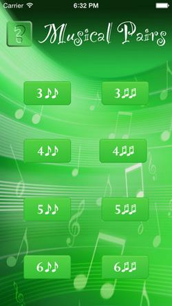 Musical Pairs Screen 1