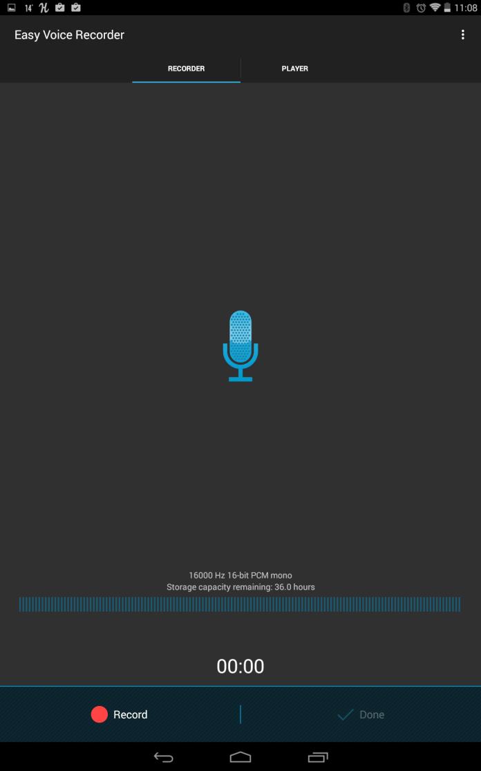 Easy Voice Recorder - main