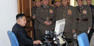 Kim Jong Un, presumably using Red Star OS