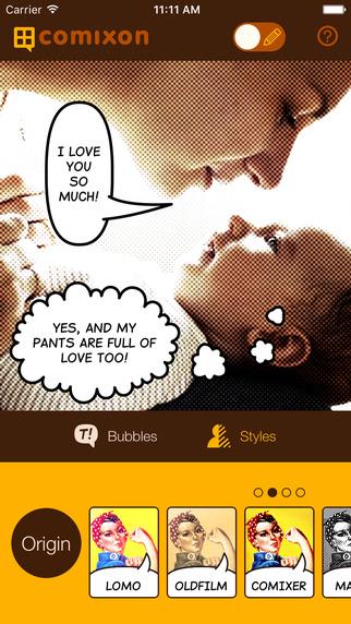 Comixon iPhone app