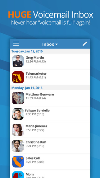 Youmail visual voicemail ios app review youmail visual voicemail m4hsunfo