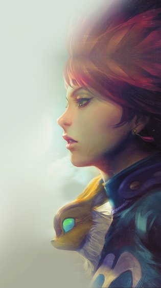 Thinking Girl HD Gaming Wallpapers for iPhone 7