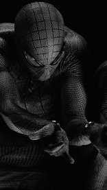 Black and White Spiderman HD Gaming Wallpapers for iPhone 7