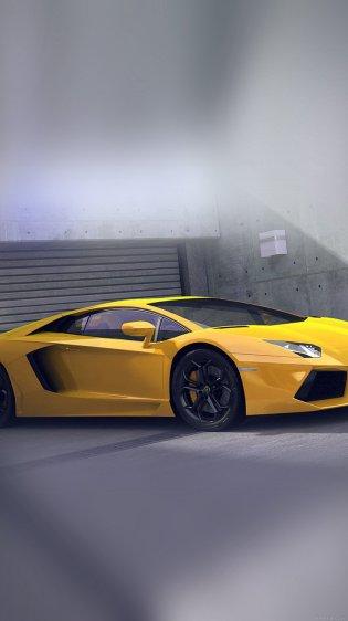 Yellow Lamborghini Car Wallpapers for iPhone 7 in HD