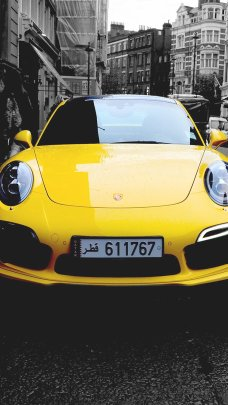 Yellow Porsche 911 Car Wallpapers for iPhone 7 in HD