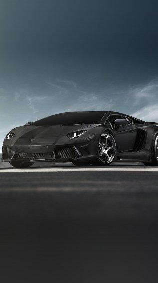 Super Black Lamborghini Car Wallpapers for iPhone 7 in HD