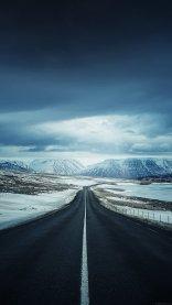 Snowy Road iPhone 7 Wallpaper