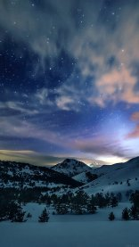 Sunset Mountain Sky iPhone 7 Wallpaper