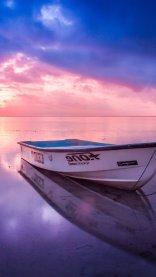 Sunset Boat iPhone 7 Wallpaper