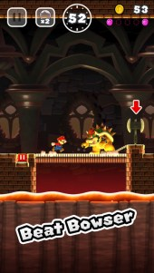 Super Mario Run Has to Beat a monster in the game