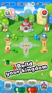 Super Mario Run allows users to build its own kingdom in the game