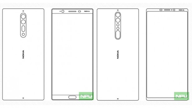 Leaked image of the rumoured design of the Nokia 8 and Nokia 9