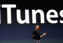 Steve Jobs introducing iTunes. Since then it has become a hugely popular app