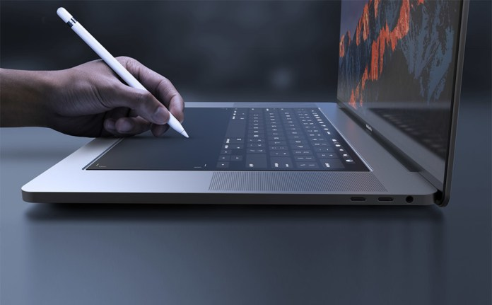 Touch based keyboard on the MacBook
