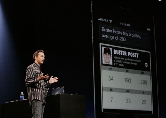 Scott Forstall showing off Siri at WWDC 2012