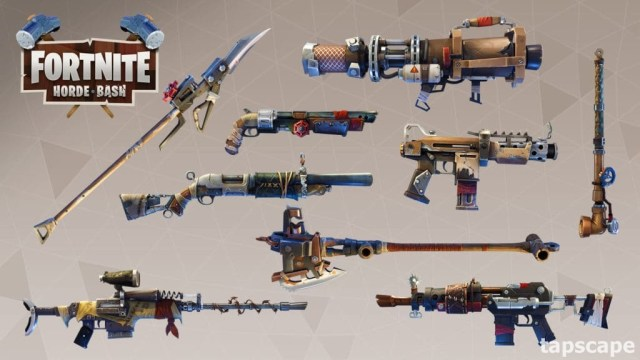 Weapons of fortnite