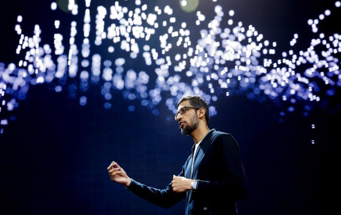 Sundar Pichai, CEO of Google at I/O 2017