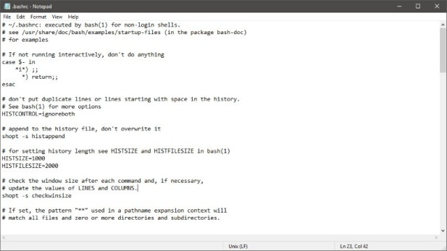 Notepad now supports Linux text files