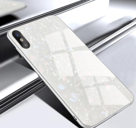 White Tempered Glass Case
