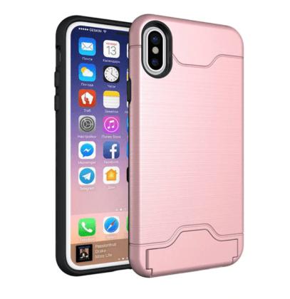 Armor Shockproof Card Slot Case Pink