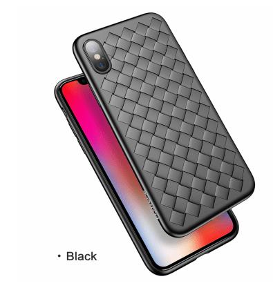 Grid Weave Silicone Case Black