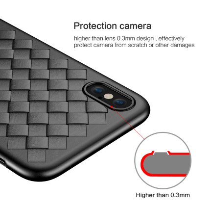 Grid Weave Silicone Case Back