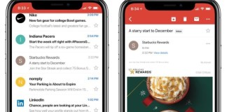 Gmail on the iPhone X