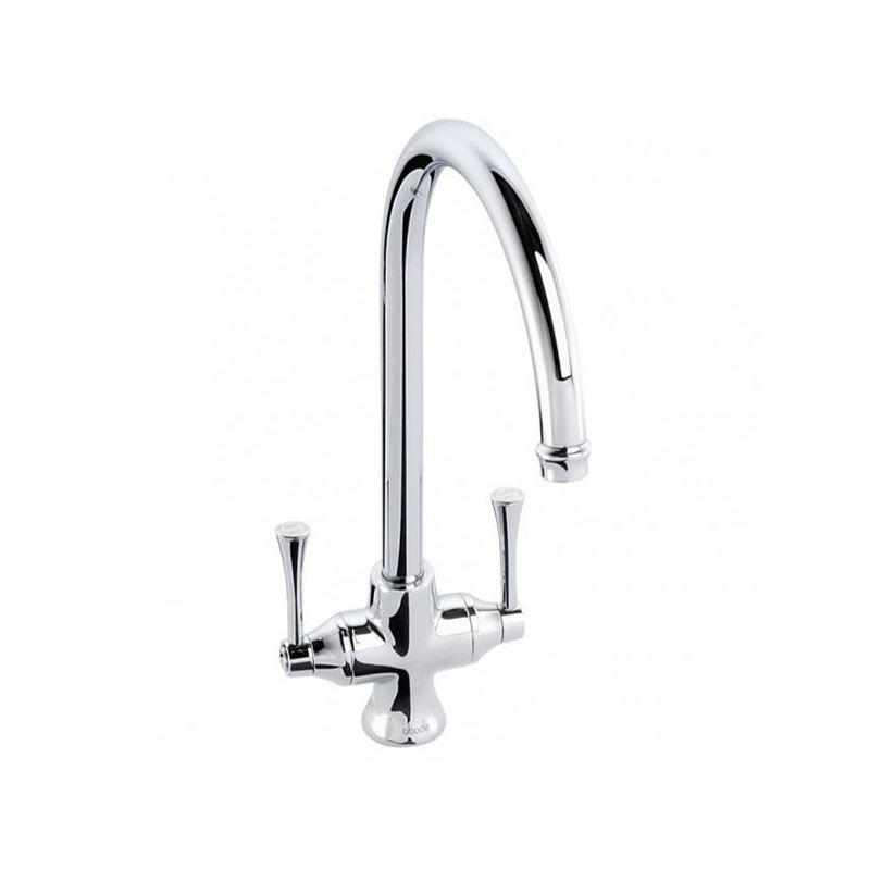 Abode Gosford Twin Lever Mono Sink Mixer Chrome