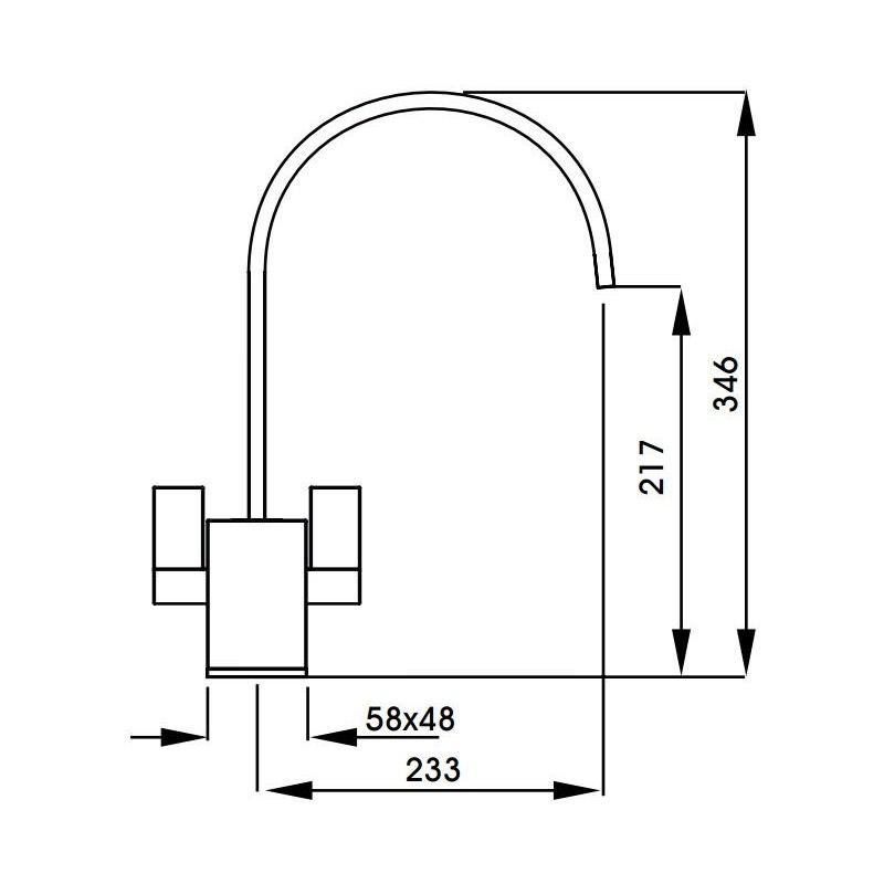 Abode Atik Twin Lever Mono Sink Mixer Brushed Nickel