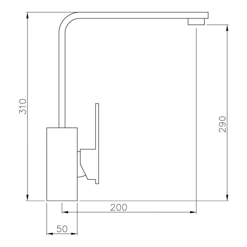 Abode New Media Single Lever Mono Sink Mixer Chrome