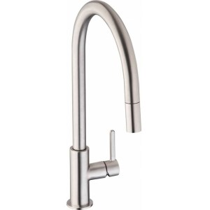 Abode Althia Mono Sink Mixer with Pull-Out Spray Brushed Nickel
