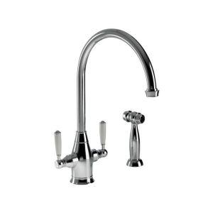 Abode Astbury Dual Lever Mono Sink Mixer with Handspray Chrome