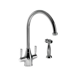 Abode Brompton Mono Sink Mixer with Integrated Handspray Chrome