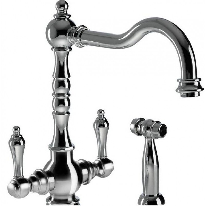 Abode Bayenne Dual Lever Mono Sink Mixer with Handspray Chrome