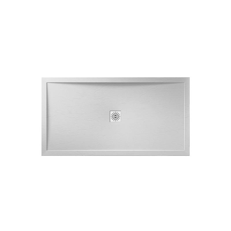April Waifer Slate Effect Shower Tray 1200x700mm White