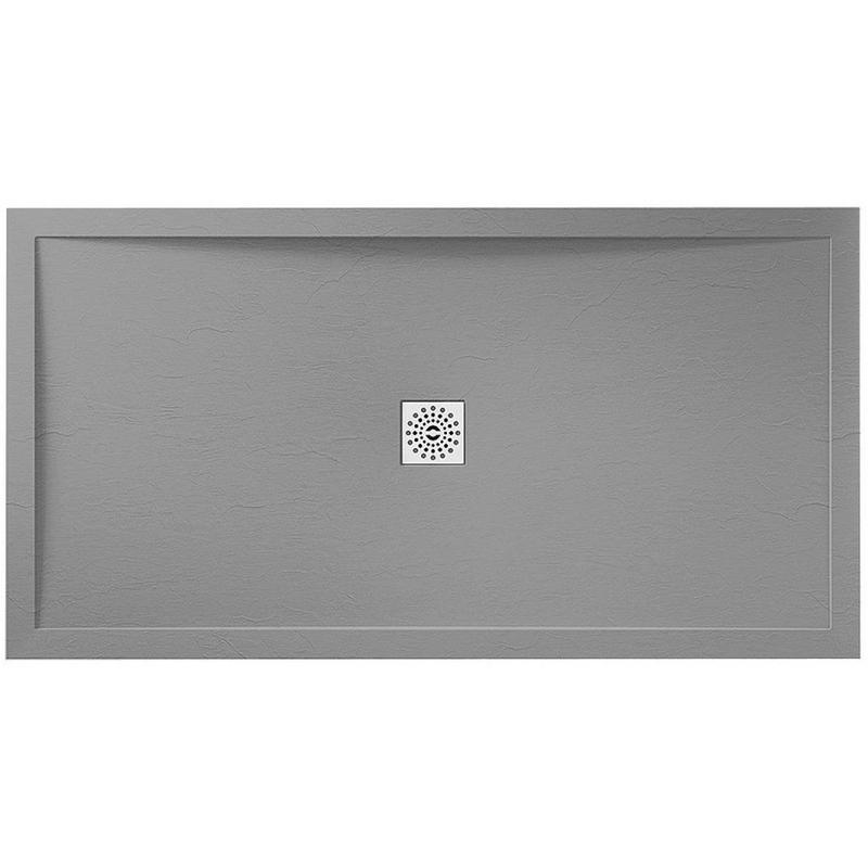 April Waifer Slate Effect Tray Grey 1700x900mm