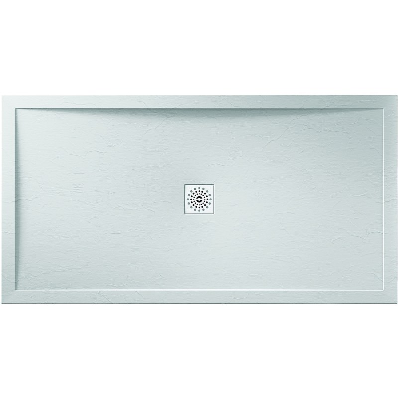 April 1200x700mm White Slate Effect Shower Tray