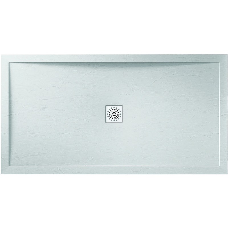 April 1700x700mm White Slate Effect Shower Tray