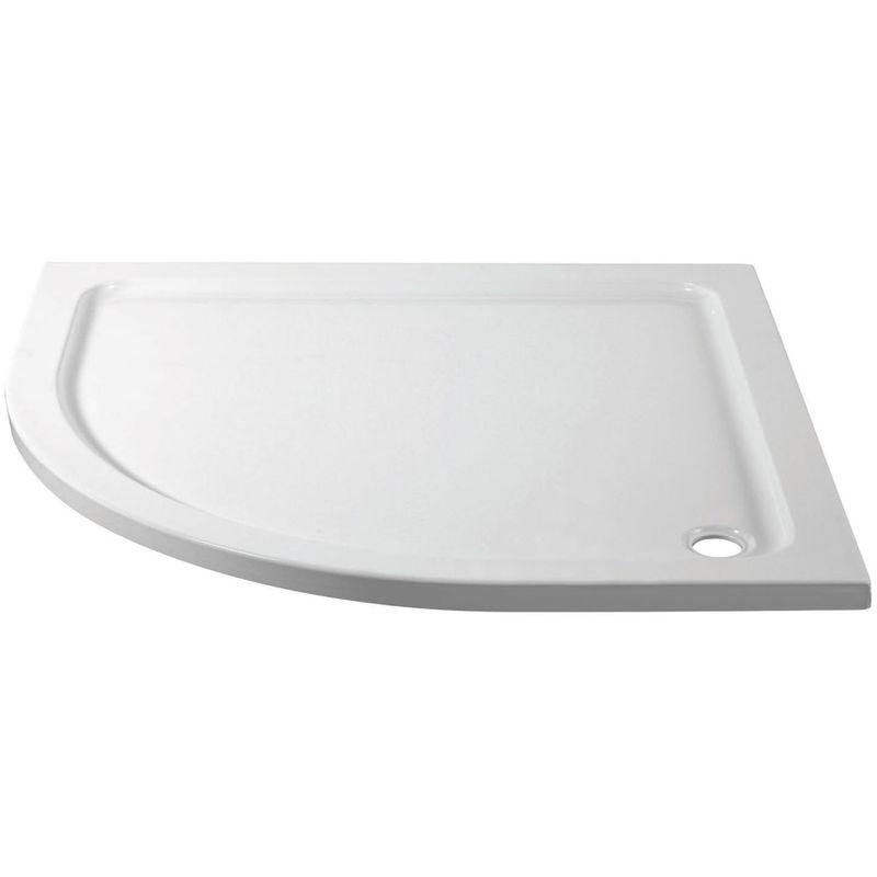 April 1200x800mm Offset Quadrant Shower Tray Left