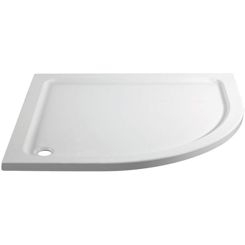 April 1200x800mm Offset Quadrant Shower Tray Right