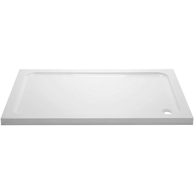 April 1400x800mm Rectangular Shower Tray
