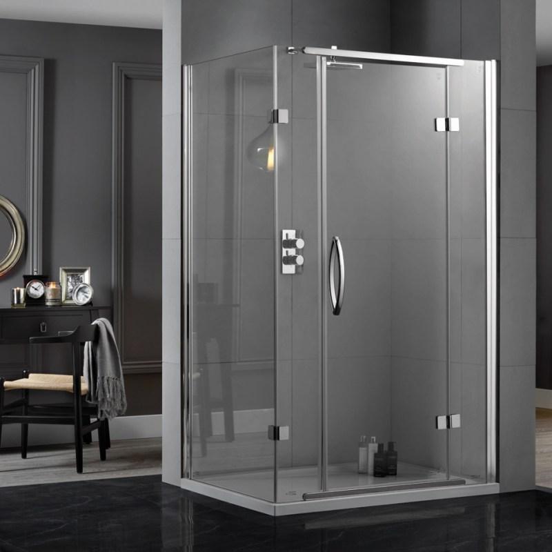Aquadart Inline Hinged Door 2 Sided Enclosure 900x900mm