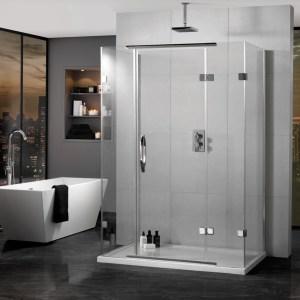 Aquadart Inline Hinged Door 3 Sided Enclosure 1400x900mm
