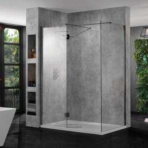 Aquadart 10mm Wetroom Profile Pack Black Chrome