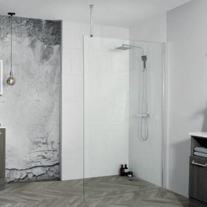 Aquadart 8 Wetroom Glass Panel 700mm